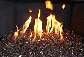 copper reflective fire glass fireplace