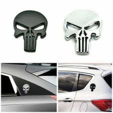 3d Metal Emblem Badge Decal Sticker The Punisher Skull Car Motorcycle Waterproof Ebay