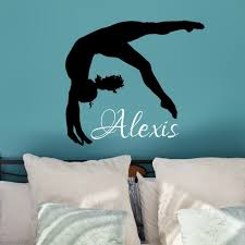 Amazon Com Personalized Gymnastics Wall Decal Gymnast Wall Decor Gymnastic Gifts 30 Colors Several Sizes Handmade