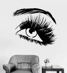 Vinyl Wall Decal Beautiful Eye Eyelashes Makeup Fashion Beauty Salon S Wallstickers4you