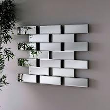 contemporary wall mirror beveled maze