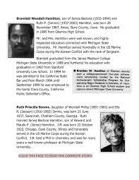 Ruth Priscilla (Simms) Hamilton (O. E. F Trustee 1986) (Deceased), Okemos,  MI Michigan