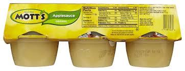 motts unsweetened applesauce nutrition
