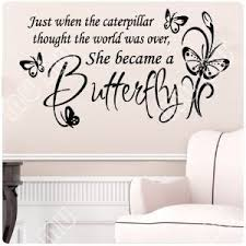 Large Butterfly Caterpillar Wall Decal Little Girls Room Nursery Decal Quote Vinyl Love Large Nice Sticker Size 36 W 21 H Black Sticker Notebook Sticker Applebutterfly Tattoo Sticker Aliexpress