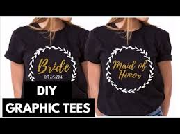 Diy Graphic Tees With Transfer Paper I Easy Custom Diy Shirts Youtube