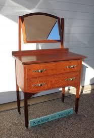 antique silky oak dressing table