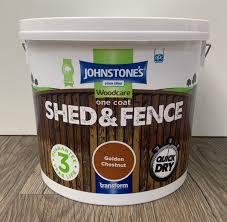Johnstones One Coat Shed Fence Golden Chestnut 5l Stratford Garden Centre