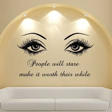 Color Of The Decal Shown In The First Image Black 070 Vinyl Wall Decal Picture May Not Be An Actual Represent Wall Decor Bedroom Salon Decor Beauty Salon