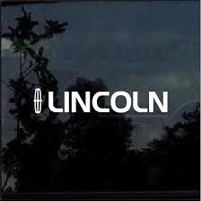 Lincoln With Emblem Window Decal Sticker Custom Sticker Shop