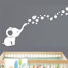 Elephant Bubbles Baby Wall Decal Vinyl Wall Nursery Room Decor In Decors