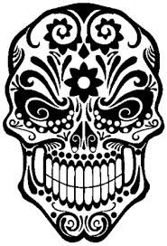 Tattoo Sugar Skull Swirl Car Or Truck Window Decal Sticker Or Wall Art All Time Auto Graphics