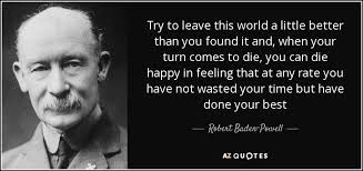 top quotes by robert baden powell of a z quotes