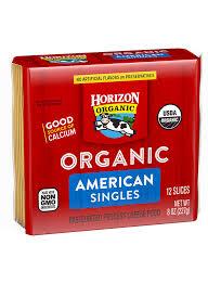 horizon organic american cheese slices