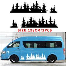 Automobile 2x For Mountain Decal Tree Forest Graphic Door Or Body Panel Custom Vinyl Car Sticker Camp Car Styling Car Stickers Aliexpress