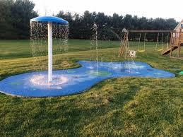 backyard splash pad the perfect