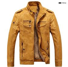 pu leather jacket autumn and winter