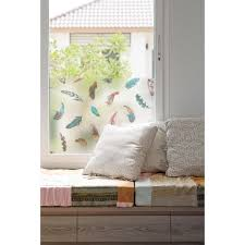 Bungalow Rose Feather Window Film Wall Decal Wayfair