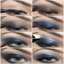 eye makeup for blue eyes black dress