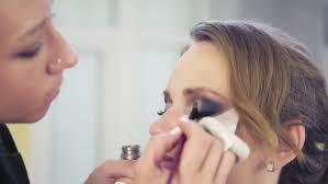 closeup view of makeup artist stock