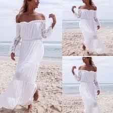 beautiful summer beach white chiffon