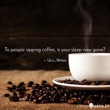 to people sipping coffee quotes writings by urvi bhandari