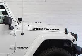 Star Wars Storm Trooper Hood Vinyl Decal Fits Jeep Wrangler Etsy