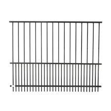 Aleko 72 In X 58 In Steel Diy Dog Fence Panel In Black Pf58x72 Hd The Home Depot