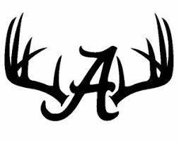 Deer Hunting Antler Skull Car Window Decal Alabama Crimson Tide 7x11 Or 11x17 In Ebay