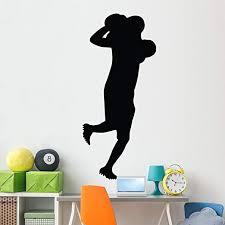 Amazon Com Wallmonkeys Football Silhouette Wall Decal Peel And Stick Graphic 72 In H X 32 In W Wm251280 Home Kitchen