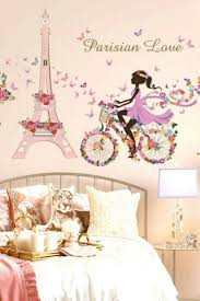 Modern Charming And Artistic Paris Wall Decor Home Wall Art Decor Paris Themed Bedroom Girls Wall Stickers Paris Wall Decor