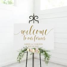 Welcome To Our Forever Sign Decal Diy Wood Signs Etsy