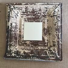 salvaged tin ceiling tile tin mirror