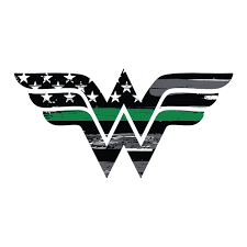 A Personal Favorite From My Etsy Shop Https Www Etsy Com Listing 589227190 Thin Green Line Wonder Woman Vehicl Military Stickers Thin Green Line Wonder Woman
