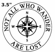Not All Who Wander Are Lost Compass Car Truck Window Bumper Sticker Decal 2 49 Picclick