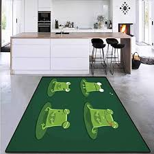 Amazon Com Floor Mat For Kids Frogs In Pond Lily Pad Perfect For Any Room Floor Carpet 4 X6 Kitchen Dining