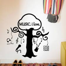 Music Vinyl Wall Sticker Music Tree Musical Notes Guitar Headphone Wall Art Sticker Class Room Wall Decal Kids Bedroom Decor Kids Bedroom Bajby Com Is The Leading Kids Clothes Toddlers