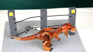 Lego Moc Jurassic Park Electric Fence Breakout Youtube