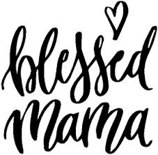Blessed Mama With Heart Car Or Truck Window Decal Sticker Rad Dezigns