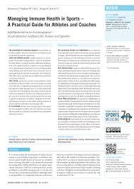 pdf managing immune health in sports