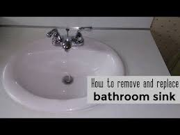 replace a bathroom sink diy