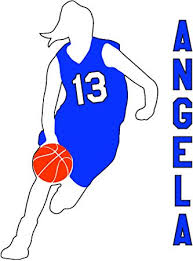 Amazon Com Sas Basketball Girl Dribble Dribbling Vinyl Window Decal Sticker Choose Number Choose Your Text Blue Automotive