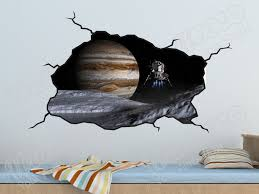 Outer Space Planet And Space Craft Nasa Wall Decal Boys Bedroom Decor Sticker Space Wall Decal Space Stickers Space Wall Decals Space Themed Bedroom Space Themed Room