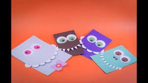 Tutorial Tarjetas Scrapbook De Monstruo Faciles Diy Easy Monster