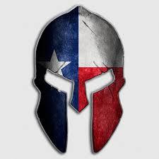 Texas Flag State Spartan Helmet Decal Lone Star Cowboys Sticker