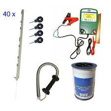 Electric Fence Starter Kit Battery Fencer 40 Inch Posts Livestock Equine Sheep 5050943091127 Ebay