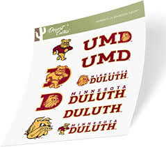 Amazon Com University Of Minnesota Duluth Umd Bulldogs Ncaa Sticker Vinyl Decal Laptop Water Bottle Car Scrapbook Type 2 Sheet Arts Crafts Sewing