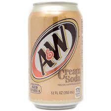 a w creme soda can 355ml americano