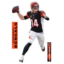 Fathead Andy Dalton Cincinnati Bengals 3 Pack Life Size Removable Wall Decal