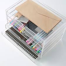 muji acrylic case 5 drawers made in