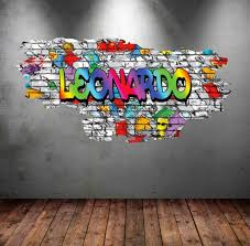 Personalized Customized Name Graffiti Wall Decals Stickers Etsy